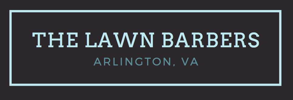The official logo for The Lawn Barbers – a full service lawn and landscaping company.